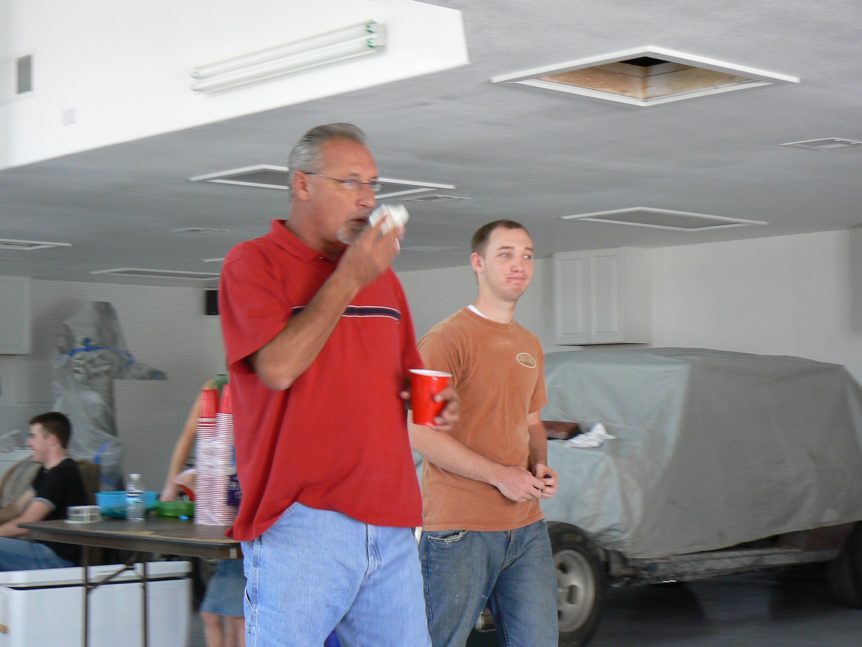 Tim's garage party